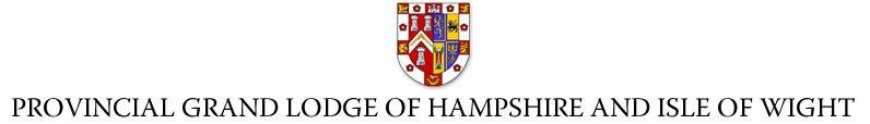 The Provincial Grand Lodge of Hampshire & Isle of Wight Logo